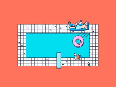 Swimmingpool fun party pool swimming rejects