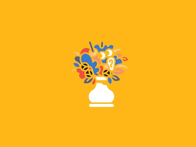 Bouquet yellow nature face ears eyes plants flowers bouquet