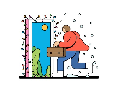 Happy Holidays work running summer snow holiday