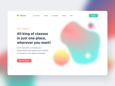 First page study design flat design illustrations website ux ui flat