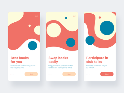 Welcome screens onboarding illustrations flat design website ux ui flat