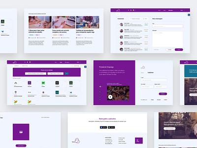 Bien | Job Portal branding dashboard ux ui design flat design website