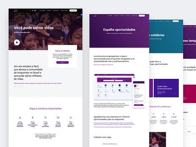 Bien | Institutional Website business flat design website ux ui flat