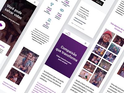 Bien | Institutional Website Mobile Version business flat design mobile website ux ui
