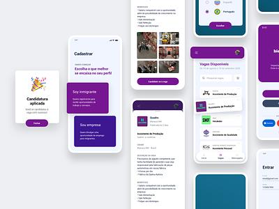 Bien | App website design app ux ui flat