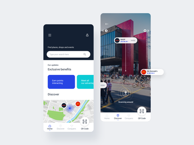 Augmented Reality App design app augmented reality ux ui flat