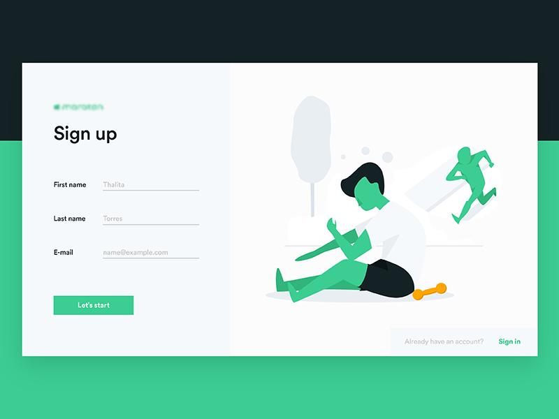 App illustrations website sign up illustrations flat app