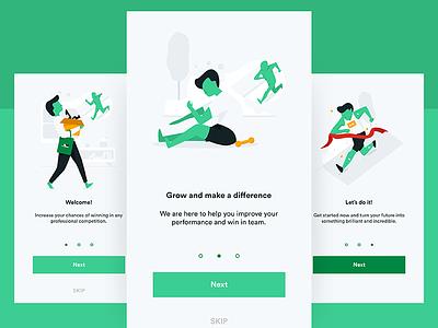 App illustrations onboarding website sign up illustrations flat app