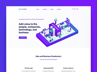 Beeders - Website Redesign illustration business ui ux website illustrations flat