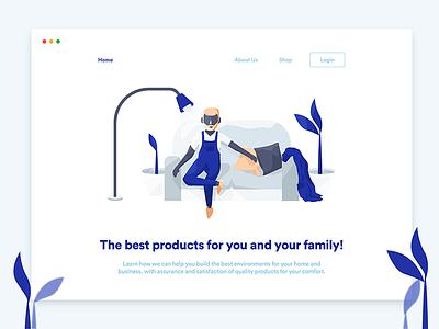 Dream Shop website ux ui ecommerce shop illustrations illustration flat  design ecommerce app