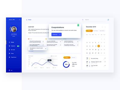 Education website | Dashboard orange blue color business flat design flat ux ui design education website dashboard dash