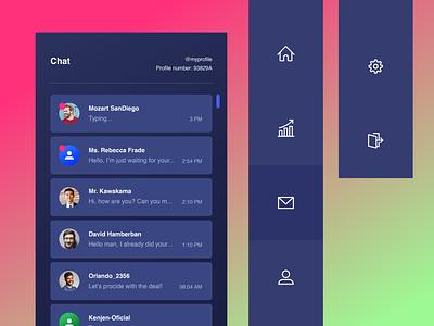 Dark Dashboard | Message details dash dashboard flat ui ux flat design website