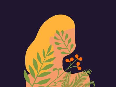 Inner Garden Illustration drawing minimalism simple illustration ferns green procreate procreate art graphic art mental health garden conceptual illustration editorial illustration plant life plants digital illustration digital art illustration digital freelance illustrator illustration illustrator
