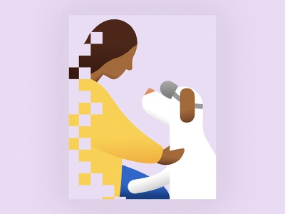 Dog VR for Separation Anxiety girl illustration woman woman illustration doggy doggo hireme freelance illustrator editorial illo vector graphicindex vr virtual reality technology dog illustration dogs design editorial illustration illustrator illustration