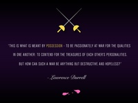 Lawrence Durrell Possession Quote