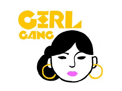 Girl Gang Shirt Graphic gold rangs rings hoops girl gang poppin purple lipstick