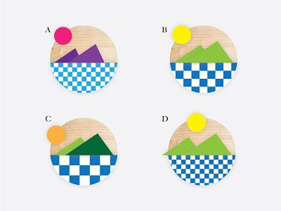 Sign/Sigil for the Coast razzle-dazzle green feedback vote outside mountains orange sunset sunrise vibes