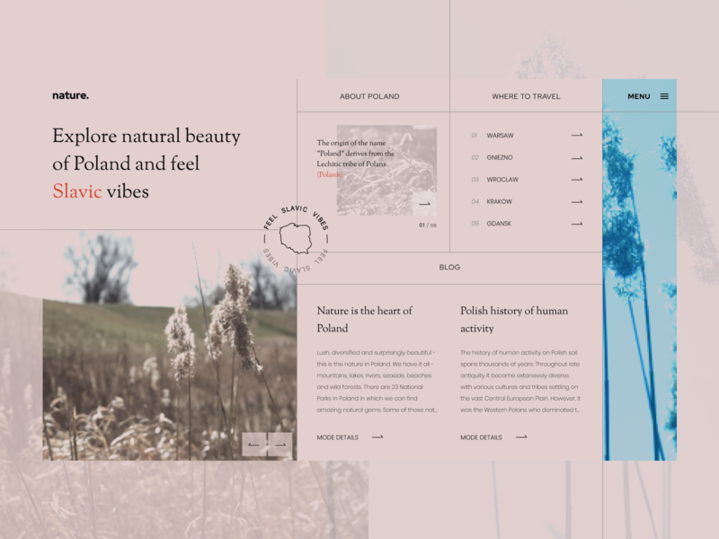 Slavic vibes nature photography figma uidesign nature art notcommon design web layout gromulski ux ui offgrid nature slavic