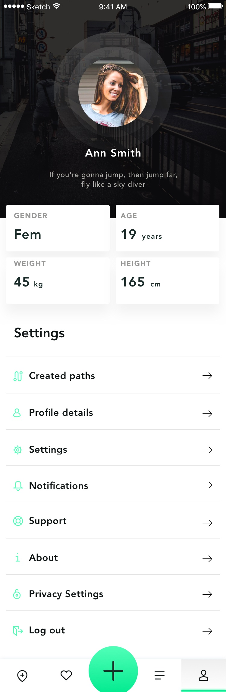 03 cycling app path profile