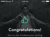 02 cycling app path congratz