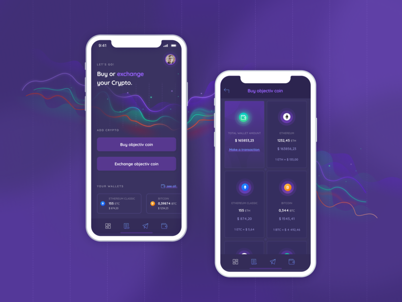 Cryptocurrency App design darkmode appdesign 2nd apple mvp sketch chart illustration cryptocurrency wallet crypto dashboard ui ux app ios