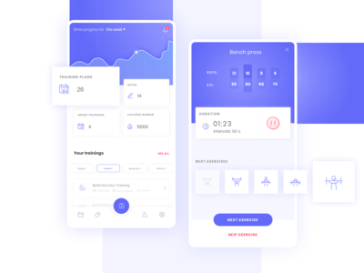 Fintess App concept (1/4)