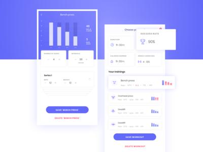 Fintess App Concept (2/4)