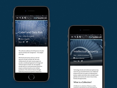 DAC Beachcroft digital web design user experience ux user interface law mobile ui 16i