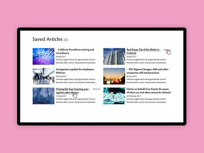 Account area - Articles