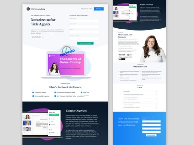Notarize Academy Landing Page