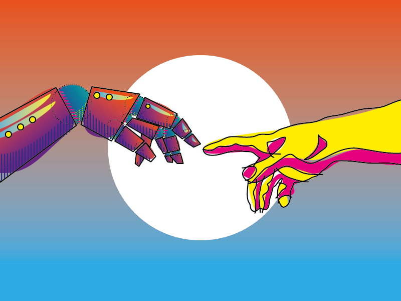 Let's create something new, together detail color pattern flat illustration pop gradient michelangelo adamo creation