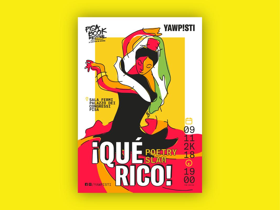 ¡Qué Rico! Poetry Slam Poster