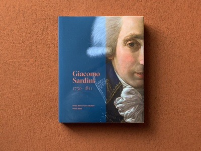 Giacomo Sardini 1750–1811 editorial color bold illustration design architecture book art grid grid layout cover layout book layout type grilli type gt sectra typography poster layout orange cover book