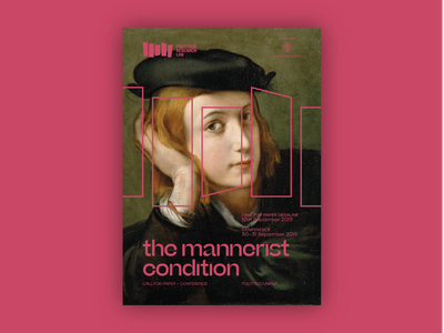 Polittico Research Lab — Poster #2 parmigianino frame polittico typography pisa symposium beatrice display poster call for papers mannerist