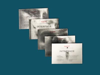 Invitation cards for the exhibition INTERFACE by Giorgio Tentoli exhibition art mohawk fedrigoni transparent translucent gsk invitation invitation card cards