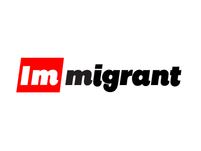 We are all immigrants change social lettering words typography type