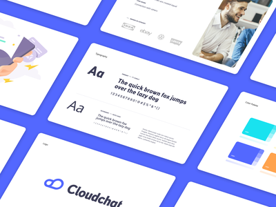 Cloudchat Branding animation design flat iconography icon art app layout clean type typography minimalistic minimal web website illustration