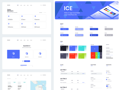 ICE UI Stylesheet ui mockup kit design flat iconography icon art app clean type typography minimalistic minimal web website illustration