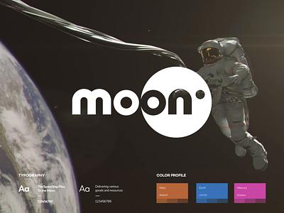 Moon Branding Concept animation design flat iconography icon art app layout clean type typography minimalistic minimal web website illustration
