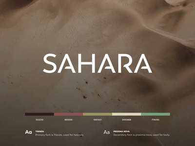 Sahara Cosmetic Branding design flat iconography icon art app layout clean type typography minimalistic minimal web website illustration