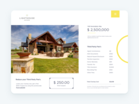 Lighthouse Fee Sheet design flat iconography icon art app layout clean type typography minimalistic minimal web website illustration