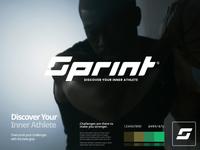 Sprint Branding design flat iconography icon art app layout clean type typography minimalistic minimal web website illustration