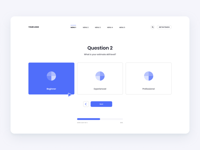 Minimal Onboarding / Questionnaire design flat iconography icon art app layout clean type typography minimalistic minimal web website illustration