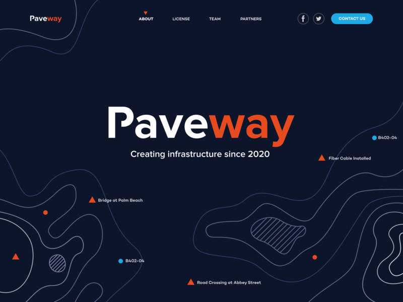Paveway Infrastructure design flat iconography icon art app layout clean type typography minimalistic minimal web website illustration