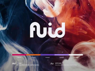 Fluid Logo design flat iconography icon art app layout clean type typography minimalistic minimal web website illustration