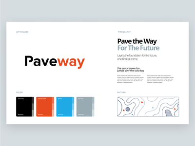 Paveway Branding design flat iconography icon art app layout clean type typography minimalistic minimal web website illustration