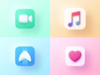 Apple Icons design flat iconography icon art app layout clean type typography minimalistic minimal web website illustration