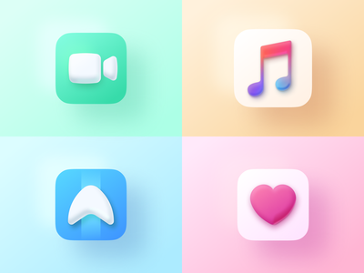 Apple Icons design flat iconography icon art app layout clean type typography minimalistic minimal web website illustration