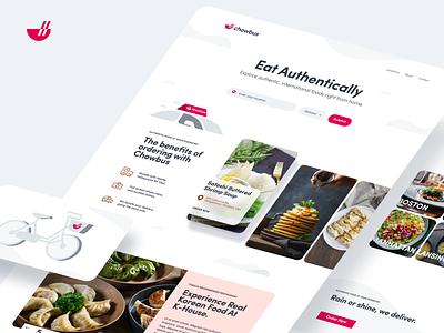 Chowbus design flat iconography icon art app layout clean type typography minimalistic minimal web website illustration