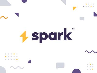 Spark Logo pattern design flat iconography icon art app layout clean type typography minimalistic minimal web website illustration